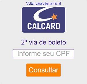 acesso rápido a fatura cartão Calcard