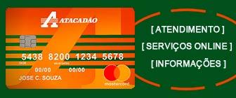 2 via da fatura cartão Atacadão e informações