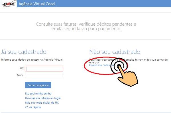 acessar agência virtual cocel