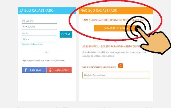 Cadastrar acesso a Fatura Energisa online